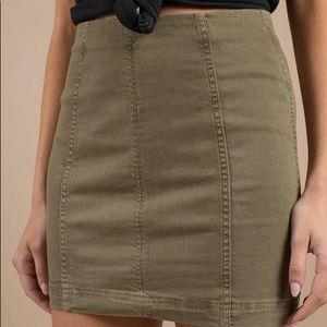 Free People - Modern Femme Olive Green Mini Skirt